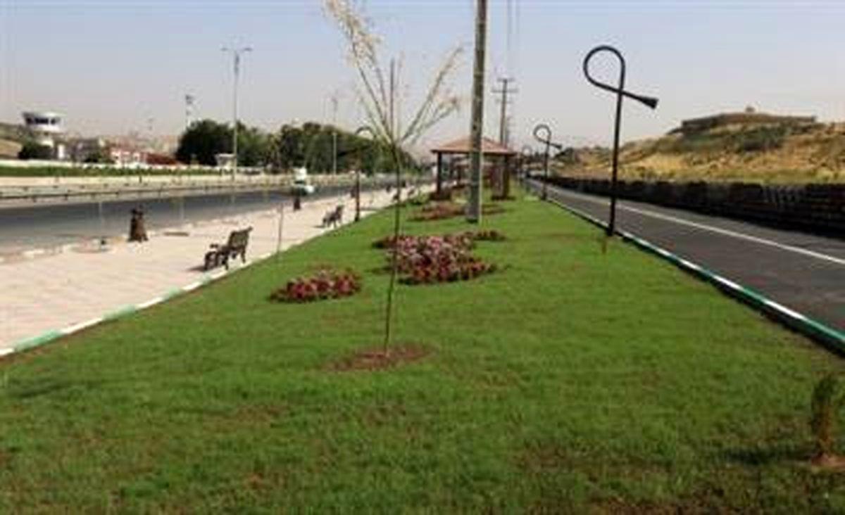 احداث 10 هزار مترمربع فضای سبز در سنندج