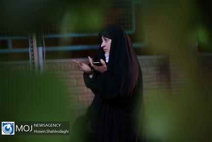 عزاداری شب هفتم ماه محرم در گلزار شهدای قم