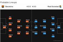 پیش بازی بارسلونا - سوسیداد