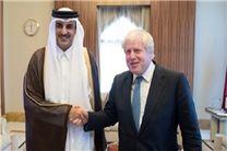 دیدار وزیر خارجه انگلیس با امیر قطر
