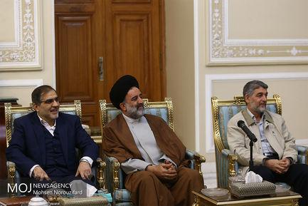 دیدار رییس سازمان صدا و سیما با علی لاریجانی