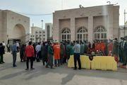 کارگران شهرداری بندرعباس دست به تحصن زدند