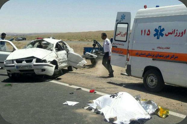 واژگونی مرگبار یک سواری سمند در اصفهان