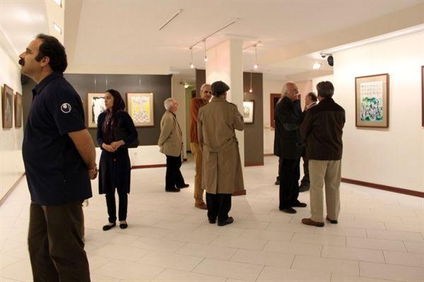 افتتاح نمایشگاه آثار نقاشی علی صادقی در گالری «ساربان»