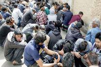 دستگیری 42 معتاد تابلو و متهم تحت تعقیب قضائی در نجف آباد