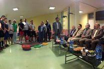 لاریجانی از اردوی تیمهای والیبال، کشتی و وزنهبرداری بازدید کرد