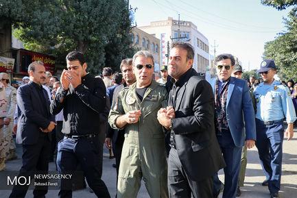 تشییع پیکر سرتیپ دوم خلبان شهید منوچهر فتاحی