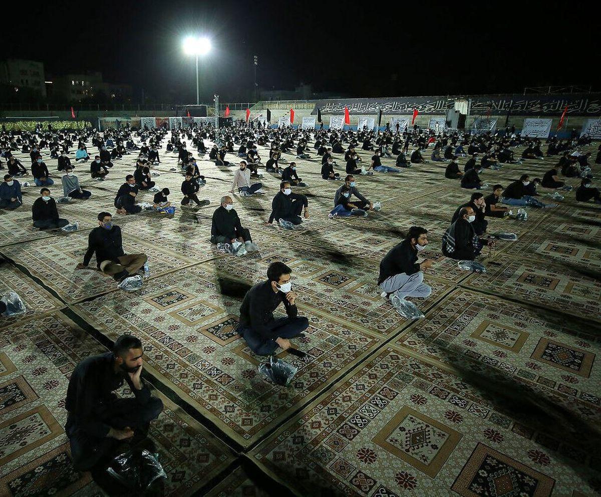 مراسم سوگواری شهادت حضرت زهرای مرضیه (س) با رعایت نکات بهداشتی در یزد