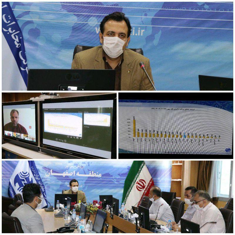 برگزاری جلسه بررسی عملکرد مخابراتی شهرستان های اصفهان