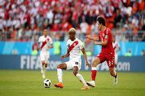 نتیجه بازی پرو و دانمارک در جام جهانی/ برتری دانمارک با درخشش اشمایکل کوچک