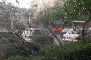 بارش باران و برف در آزادراه تهران-شمال