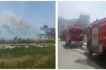 آتش در محوطه فضای سبز جامعه الزهرا