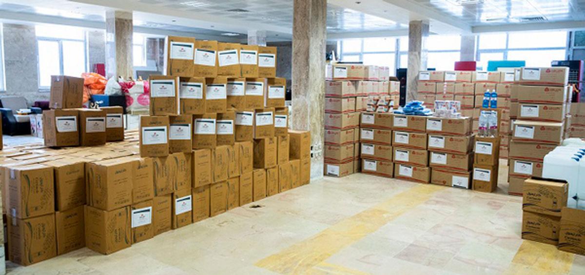 اهدای 2 کامیون اقلام بهداشتی از سوی بانک ملت به آسایشگاه کهریزک البرز