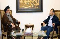 دیدار رئیس جریان ملی آزاد لبنان با حسن نصرالله