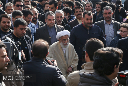 حضور رییس و اعضای مجمع تشخیص مصلحت نظام در راهپیمایی 22 بهمن