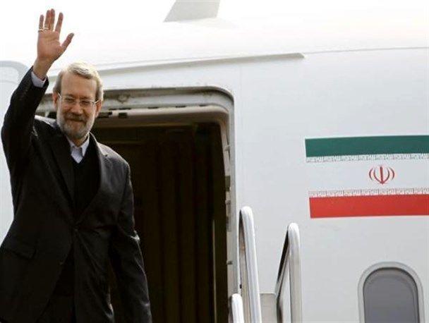 لاریجانی وارد فرودگاه بلگراد شد