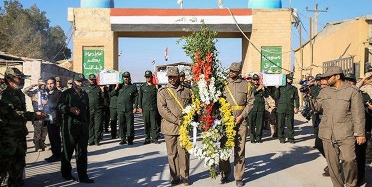 آئین استقبال از ورود پیکر ۷۲ شهید دوران دفاع مقدس به کشور برگزار شد