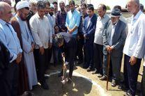کلنگ احداث درمانگاه  تخصصی امام رضا (ع) بیله سوار به زمین زده شد