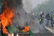 افزایش تلفات اعتراضات جلیقه زردها در فرانسه