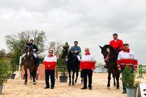 چهارمین هفته مسابقات پرش با اسب سوارکاری استان همدان