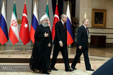 عکس یادگاری روسای جمهور ایران، روسیه و ترکیه