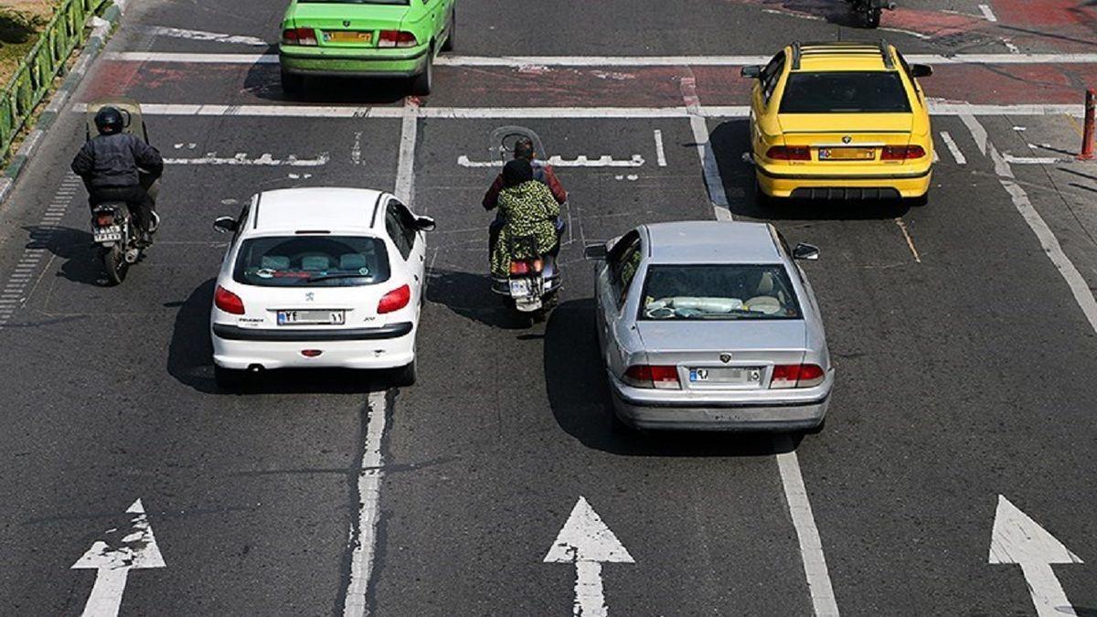 کاهش ۲۴ درصدی میانگین تردد خودروها در آخرین روز پاییز سال ۹۹