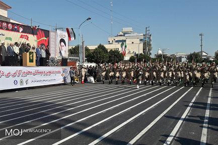 مراسم رژه نیروهاى مسلح در بابل استان مازندران