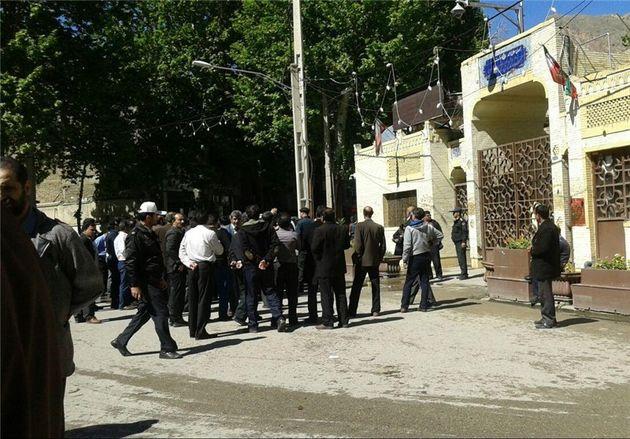 کارگران پارسیلون خرمآباد مقابل استانداری لرستان تجمع کردند