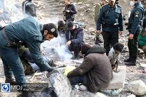 جمع آوری ۳۴۰ تن از معتادان متجاهر تهران
