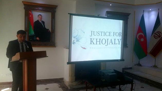 بزرگداشت فاجعه خوجالی در سفارت آذربایجان