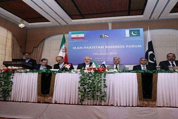 نشست مشترک تجاری ایران و پاکستان با حضور ظریف آغاز شد