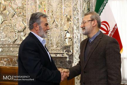 دیدار دبیر کل جنبش جهاد اسلامی فلسطین با علی لاریجانی