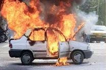 حادثه در محور کهورستان تازیان سه نفر را به کام آتش کشاند
