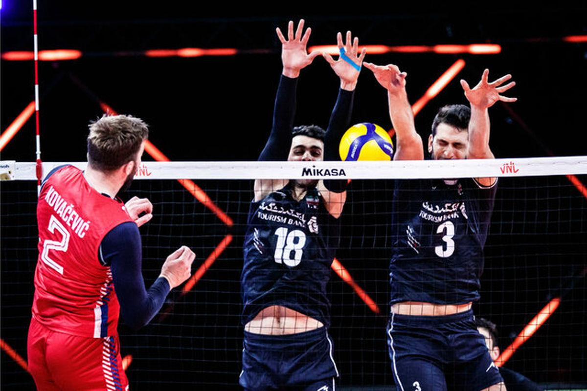 نتیجه بازی والیبال ایران و صربستان/ شکست ایران مقابل صربستان