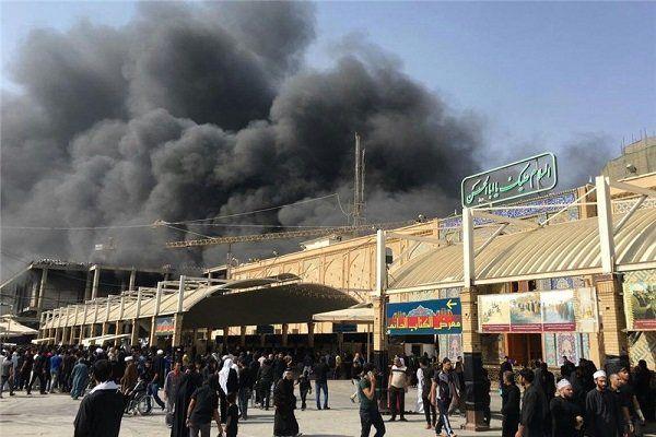 آتش سوزی در نزدیکی حرم امام علی (ع) در نجف اشرف