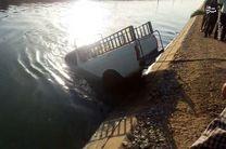 سقوط مرگبار یک وانت نیسان در کانال آب درخمینی شهر