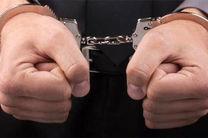 دستگیری سارق سیم برق حین سرقت