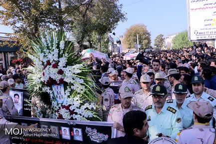 مراسم تشییع پیکر شهدای مرزبانی چالدران در خوی