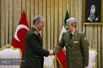 دیدار رییس ستاد کل ارتش ترکیه با وزیر دفاع ایران