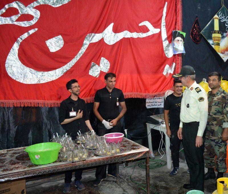 بازدید فرمانده انتظامی استان اصفهان از مساجد و هیئتهای مذهبی در خمینی شهر