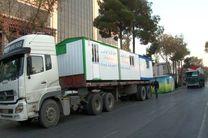 ارسال 32 کانکس توسط خیرین شهرستان خمینی شهر به مناطق زلزله زده غرب کشور
