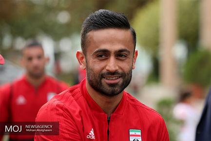 امید ابراهیمی بازیکن تیم ملی فوتبال