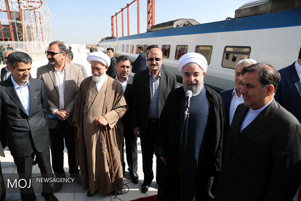 افتتاح خط راه آهن تهران – همدان