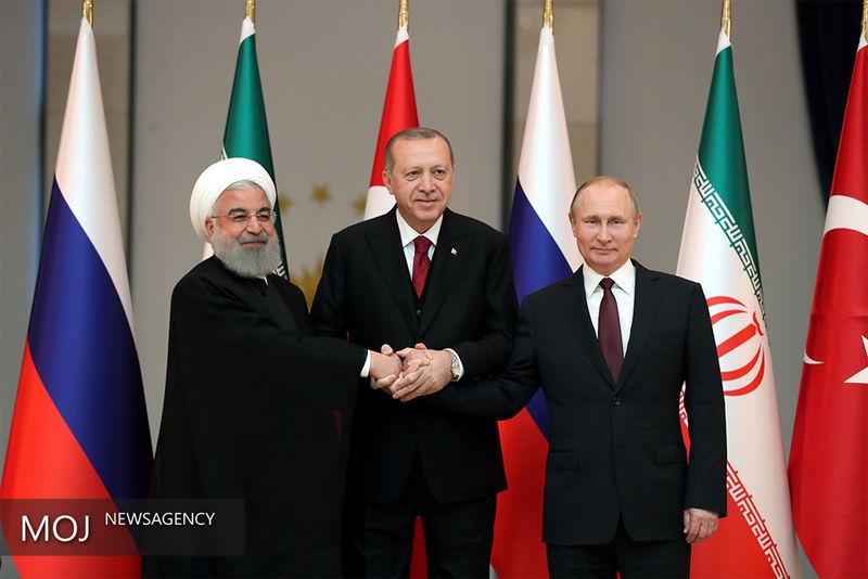 آغاز نشست سه جانبه روسای جمهور ایران، ترکیه و روسیه