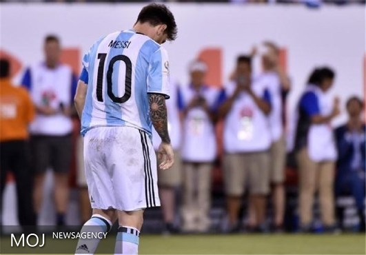 مسی از تیم ملی آرژانتین خداحافظی کرد