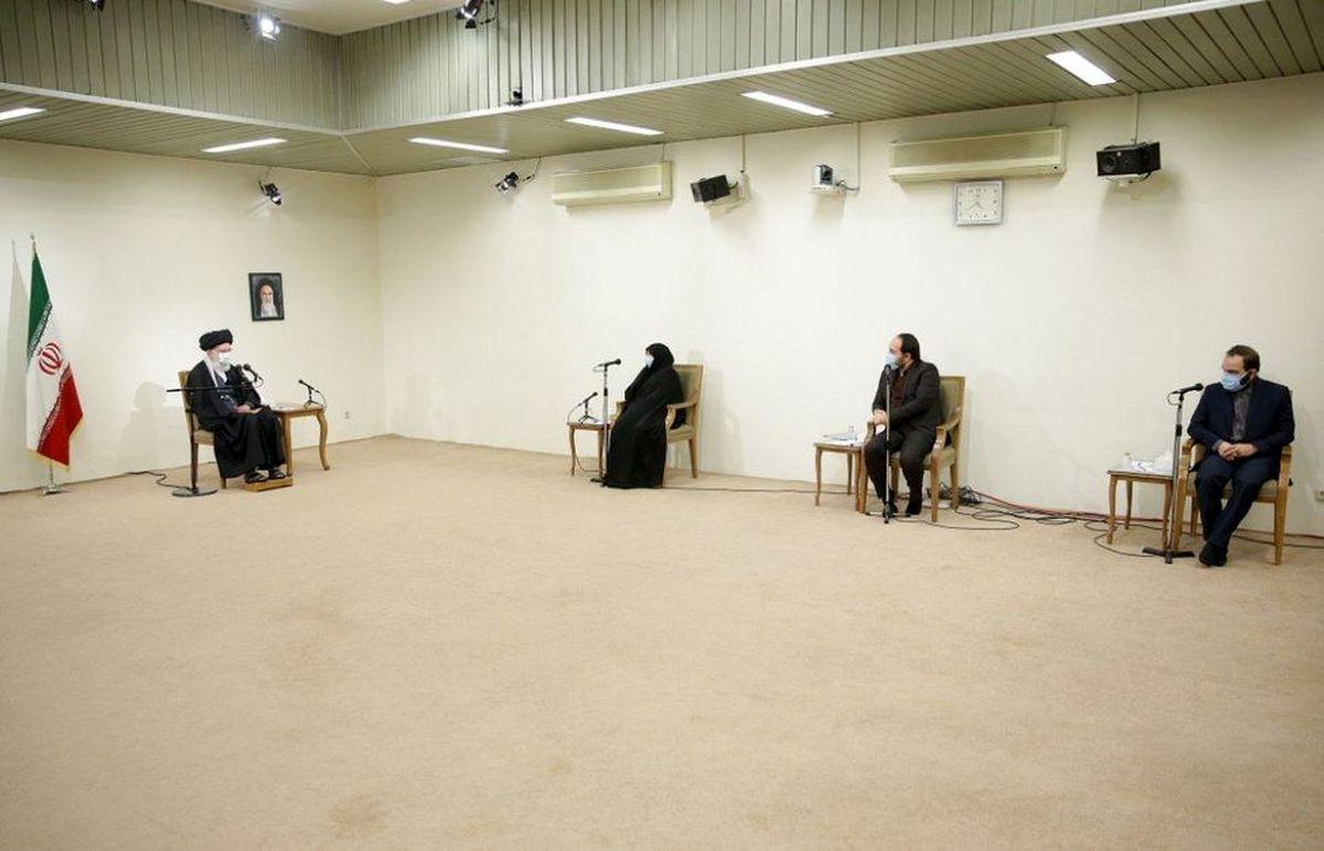 خانواده شهید فخری زاده با رهبر انقلاب دیدار کردند