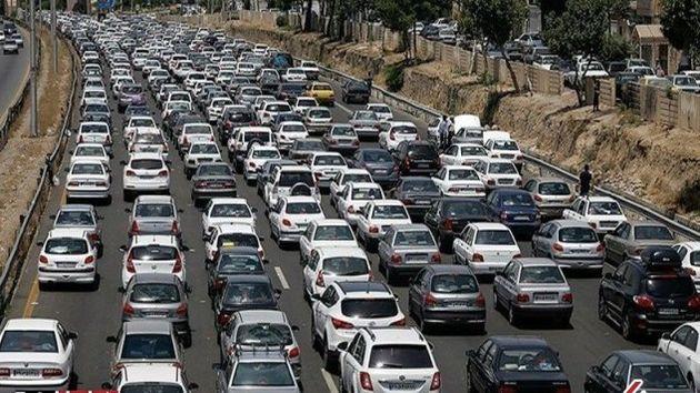 وضعیت ترافیکی جاده های منتهی به بهشت زهرا در جمعه آخر سال