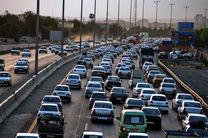 ترافیک پرحجم در آزادراه کرج-قزوین