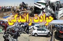 زخمی و فوت 5 نفر در تصادف پژو پارس و کمپرسی بنز