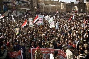 برگزاری تظاهرات ضد سعودی در یمن